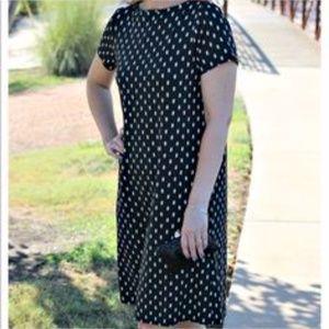 J. Jill Wearever Collection Black Shift Dress Med
